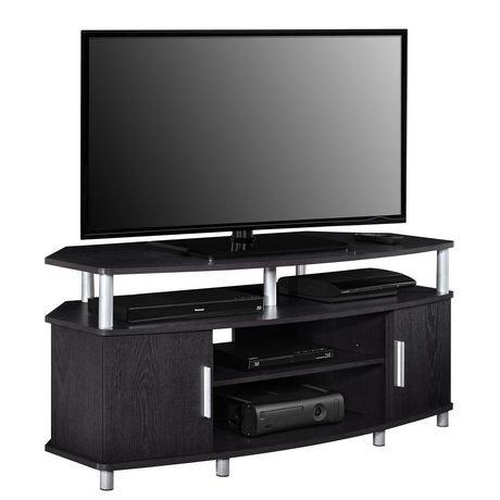 meuble d angle pour t l viseur carson pour t l viseurs jusqu 50 po 127 cm cerise noir. Black Bedroom Furniture Sets. Home Design Ideas