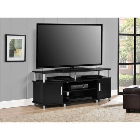 meuble pour t l viseur carson pour t l viseurs jusqu 50 po 127 cm ch ne vieilli walmart canada. Black Bedroom Furniture Sets. Home Design Ideas