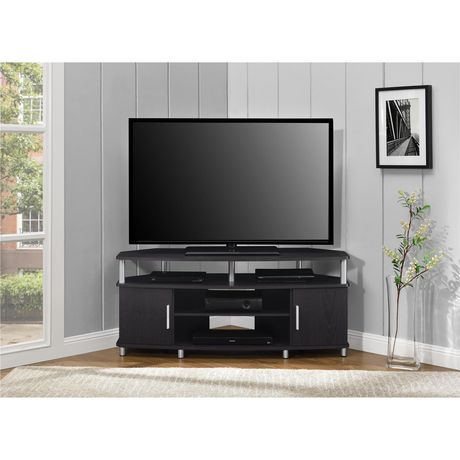 "Carson Corner TV Stand for TVs up to 50"", Black/Cherry - image 1 of 7"