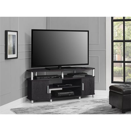 "Carson Corner TV Stand for TVs up to 50"", Black/Cherry - image 2 of 7"