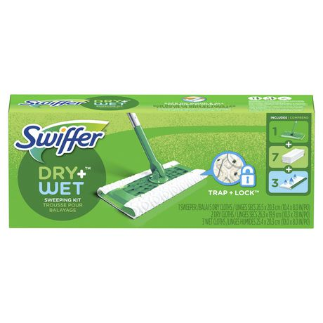 Swiffer Sweeper Floor Mop Starter Sweeping Kit Dry Wet