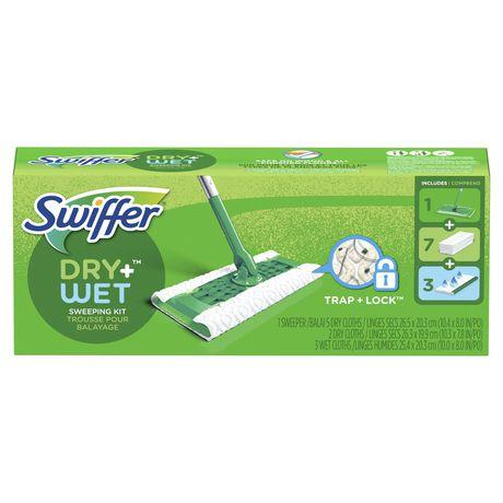 Swiffer Sweeper Floor Mop Starter Sweeping Kit Dry Wet