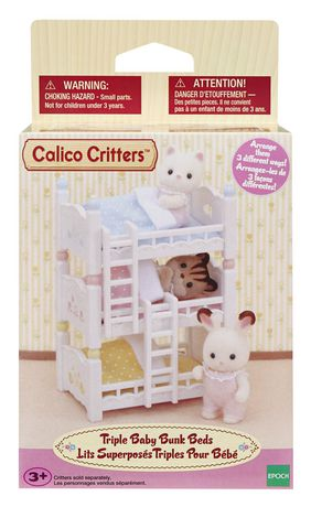 Calico Critters Triple Baby Bunk Beds - image 2 of 3