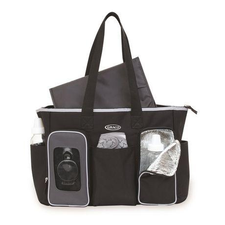 graco smart organizer system tote diaper bag black. Black Bedroom Furniture Sets. Home Design Ideas