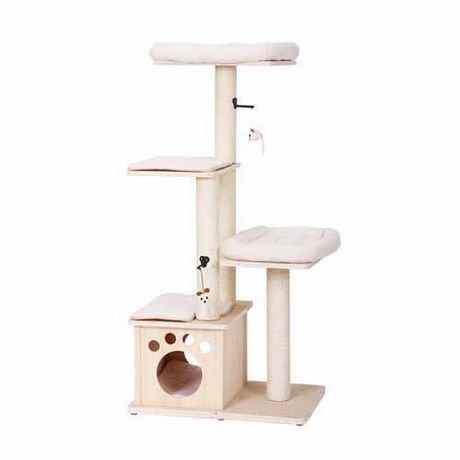 arbre chat 4 tages abode en bois naturel de petpals group walmart canada. Black Bedroom Furniture Sets. Home Design Ideas