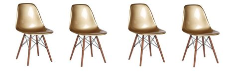 Plata Décor Import Inc Eiffel Gold Abs Chair Set of 4 - image 1 of 1
