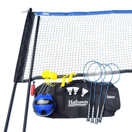Hathaway Volleyball/Badminton Complete Combo Set - image 1 of 5