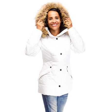 Veste Manteau Murmure de L'hiver de Joan Kelley Walker pour femmes à faux-duvet et doux au toucher - image 1 de 9