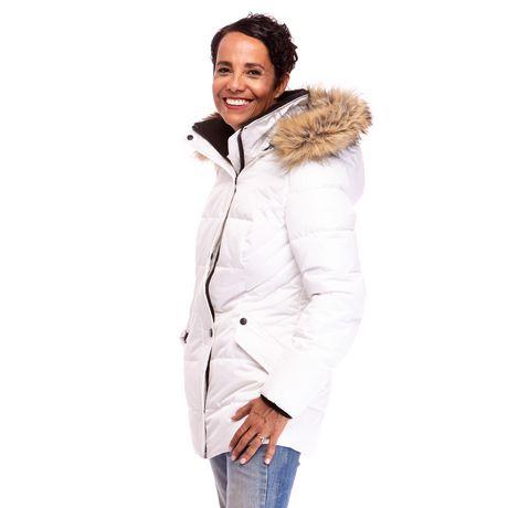 Veste Manteau Murmure de L'hiver de Joan Kelley Walker pour femmes à faux-duvet et doux au toucher - image 3 de 9