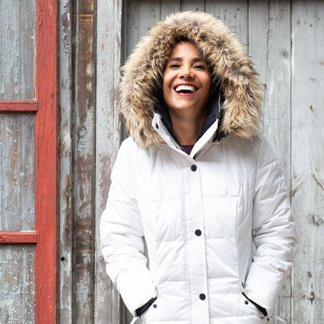 Veste Manteau Murmure de L'hiver de Joan Kelley Walker pour femmes à faux-duvet et doux au toucher - image 5 de 9