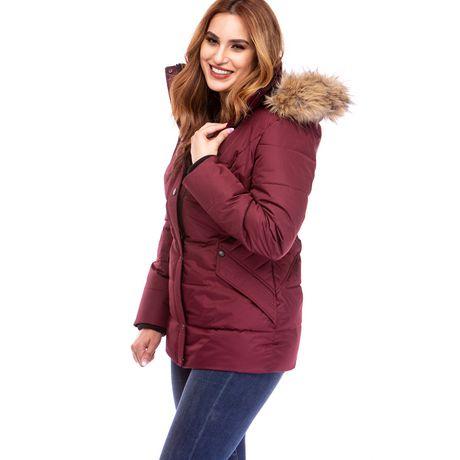 Veste Manteau Murmure de L'hiver de Joan Kelley Walker pour femmes à faux-duvet et doux au toucher - image 8 de 9