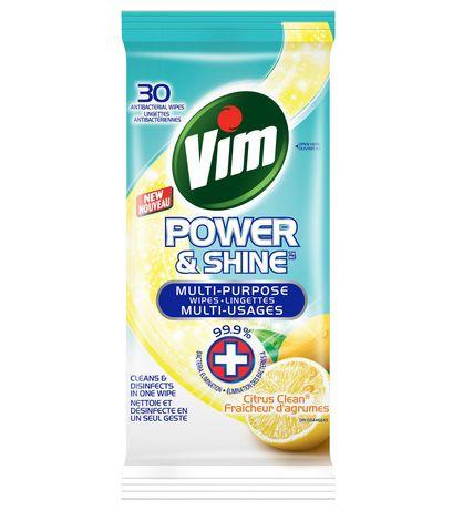 Vim Power & Shine Multi-Purpose Citrus Clean Wipes 30 EA - image 1 of 1