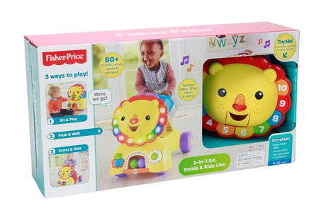 Fisher Price 3 In 1 Sit Stride Amp Ride Lion Toy Vehicle
