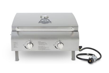 #outdoors,Pit Boss Dual Burner Portable Gas Grill Stainless Steel 275