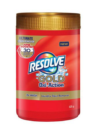 Resolve Gold Oxi-Action, Ultimate Laundry Stain Remover, In-Wash Powder, All Colours, 625 g - image 1 of 4