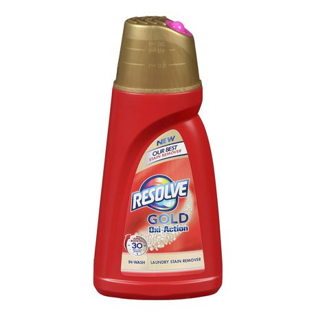 Resolve Gold Oxi-Action Fabric  Stain Remover - In-Wash Gel - 1L - image 1 of 1