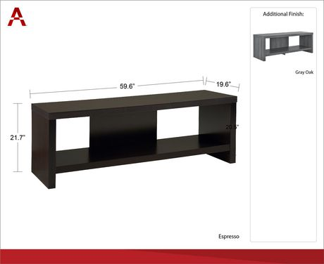 """Jensen TV Stand for TVs up to 60"""", Gray Oak - image 9 of 9"""
