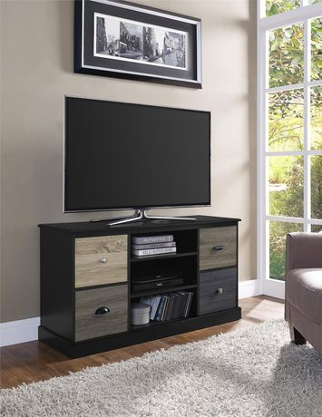 "Mercer TV Console with Multicolored Door Fronts for TVs up to 50"", Black - image 2 of 6"