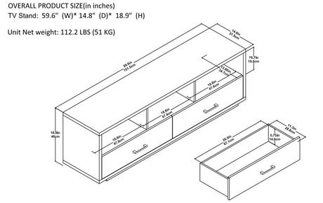 """Clark TV Stand for TVs up to 70"""", Espresso - image 9 of 9"""
