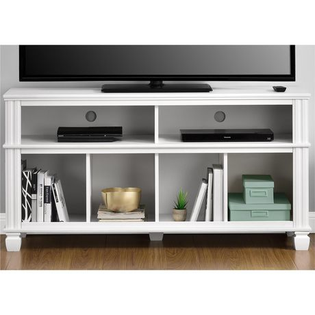 """Woodcrest TV Stand for TVs up to 55"""", White - image 3 of 7"""