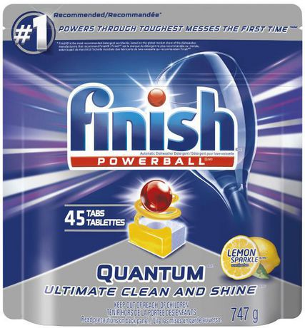 a2d8f49f633e Finish Dishwasher Detergent, Quantum Max, Lemon, 45 Tablets, Shine and  Glass Protect ...