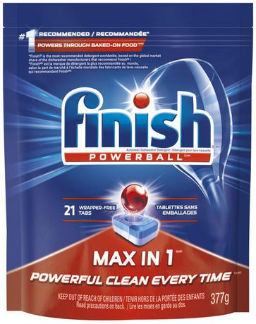 Finish® Powerball Max in 1 Dishwasher Detergent | Walmart.ca