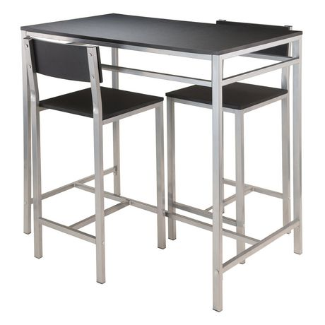 Winsome Hanley 3-Piece High Table with 2 High Back Stools - 93336 - image 1 of 1