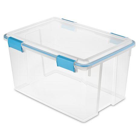 Sterilite 30 Liter Clear Gasket Box - image 1 of 3