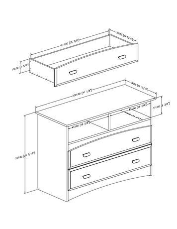 Meuble de rangement à 2 tiroirs collection Imagine de Meubles South Shore - image 2 de 4