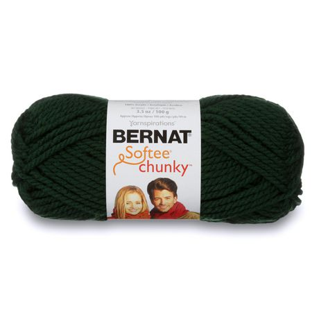 BERNAT SOFTEE CHUNKY YARN (100G/3.5OZ), DARK GREEN - image 1 de 4