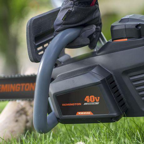 Scie à chaîne électrique sans fil Remington 40 volts Lithium Ion 12 po - image 2 de 3