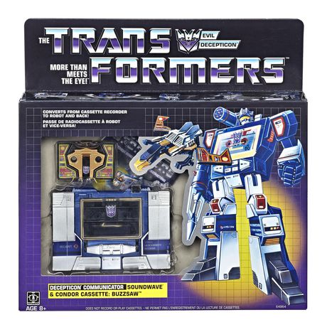 Transformers Vintage G1 Soundwave and Buzzsaw Collectible Figures
