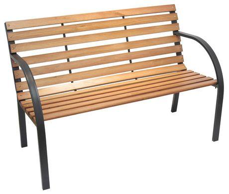 Cool Henryka Black Steel Frame Park Bench Creativecarmelina Interior Chair Design Creativecarmelinacom