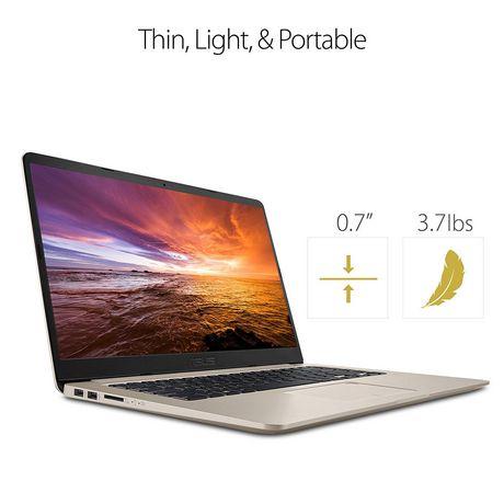 """Asus VivoBook S 15.6"""" Ultra Thin Laptop, i7-8550U Processor, Intel HD, 8GB DDR4, 128GB+1TB, Windows 10 (64bit), S510UA-DS71 - image 3 of 4"""