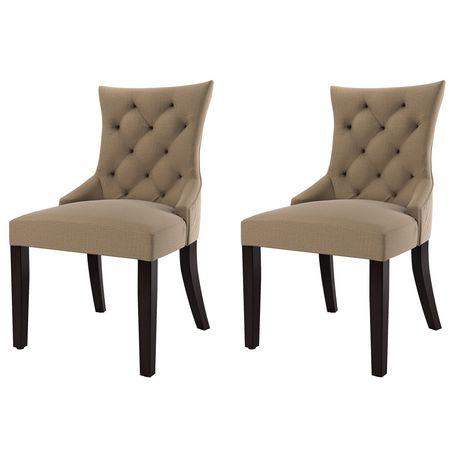 Corliving Antonio Set Of 2 Beige Fabric Accent Chair