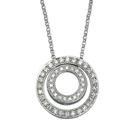 Paj sterling silver white cubic zirconia double circle pendant paj sterling silver white cubic zirconia double circle pendant walmart canada aloadofball Image collections