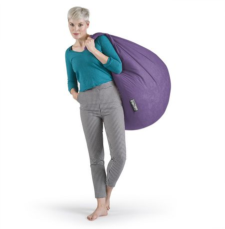 Sitting Point Easy Purple Beanbag - image 3 of 6