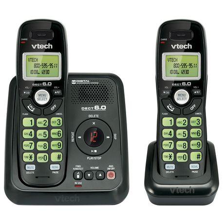 Vtech CS6124-21 Téléphone sans fil à deux combinés avec répondeur numérique et afficheur - image 1 de 1