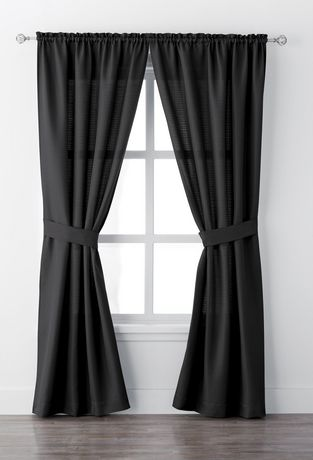 Mainstays Bennett 84 Quot Rod Pocket Window Curtain Drapery
