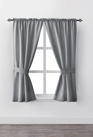 Mainstays Bennett 63 Quot Rod Pocket Window Curtain Drapery