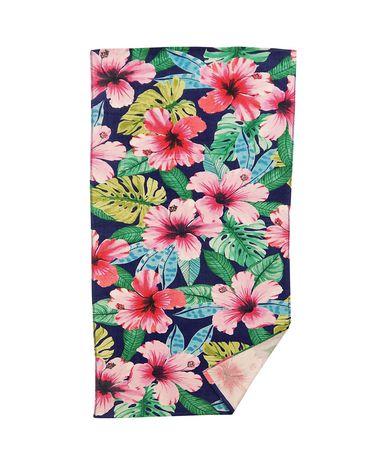 MAINSTAYS PRINTED BEACH TOWEL -- Multi Floral - image 1 of 2