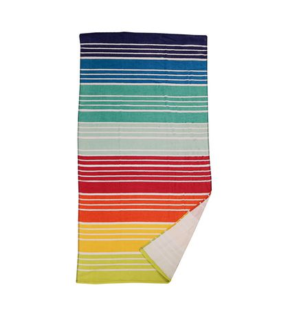 MAINSTAYS PRINTED BEACH TOWEL -- Rainbow Stripe - image 1 of 2