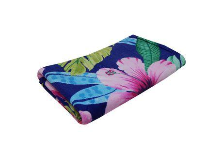 MAINSTAYS PRINTED BEACH TOWEL -- Multi Floral - image 2 of 2