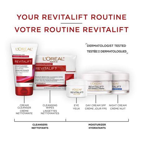 L'Oréal Paris Revitalift Lingettes Nettoyantes Démaquillantes, 30 lingettes - image 6 de 7