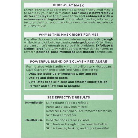 L'Oreal Paris Pure-Clay Masque nettoyant avec 3 Argiles Minérales + Algues Rouges pour Peau Rugueuse - image 3 de 7