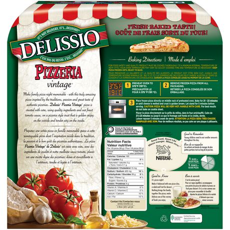 Delissio Pizzeria Vintage Chicken Parmesan Walmart Canada