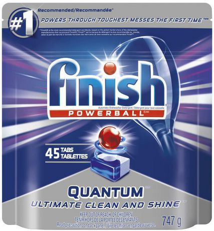 Finish Dishwasher Detergent, Quantum Max, Fresh, 45 Tablets, Shine and  Glass Protect