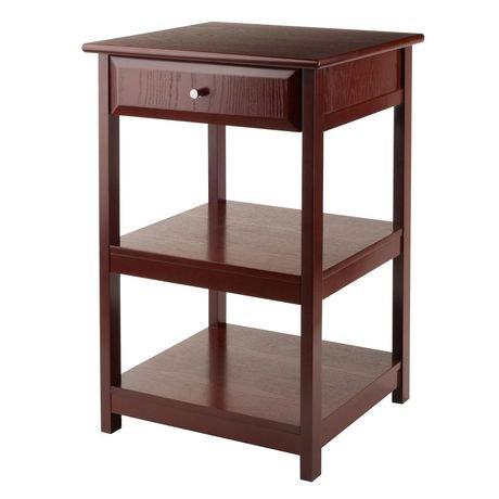Table pour imprimante delta de winsome en noyer 94121 for Meuble bureau pour imprimante