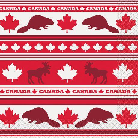 Unique Party Favors Canada Day Leaf Napkins - image 1 of 1