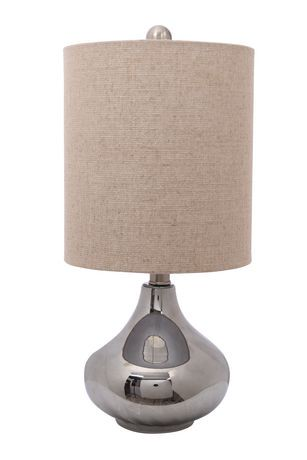 Hometrends chrome plated glass and metal table lamp walmart canada mozeypictures Gallery